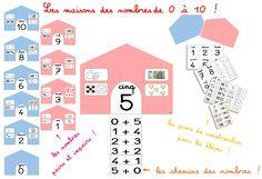 Les maisons des nombres de 0 à 10... et leurs chemins de nombres pour construire le répertoire additif de nos CP ! ~ Elau