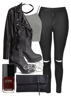 """""""Sin título #12175"""" by vany-alvarado ❤ liked on Polyvore featuring Topshop, H&M, Kendra Scott and Chanel"""