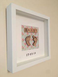 ��Personalised New Baby, Birth, Christening, Boy & Girl Frames Gift/Keepsake