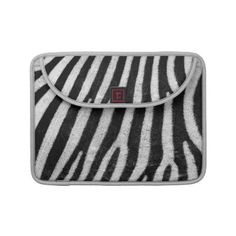 """$52.90  #sleeves #macbooksleeves #zebra #zazze #elenaindolfi  Elegant and chic zebra design.   •Water resistant, extra durable construction  •Ultra-plush, laptop-grade padded liner.  •Secure hoop and loop flap closure.  •Handmade with a sustainability focus in San Francisco, CA.  •Sized perfectly for MacBook/MacBook Pro 13"""" (14.25""""W x 10.9""""H x .75"""" D) & MacBook/Macbook Pro 15"""" (16""""W x 11.75""""H x .75"""")."""