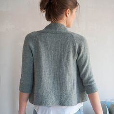 Miriam pattern worked seamlessly from bottom up from Quince&Co.