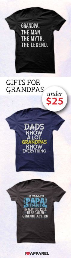 Find the perfect gift for any grandpa. Buy any 2 or more items and get free US shipping.