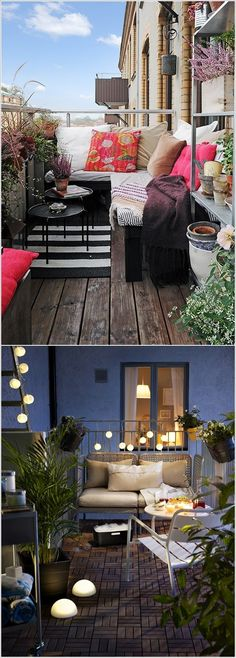 groß Great way to convert an otherwise unusable outdoor space - Dekoration Terrasse - - Patio Interior, Interior And Exterior, Interior Design, Outdoor Spaces, Outdoor Living, Outdoor Decor, Tiny Balcony, Balcony Ideas, Porch Ideas