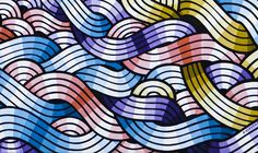 + Stephan Doitschinoff + Paintings Free Motion Quilting, Beautiful Patterns, Background Patterns, Print Patterns, Pattern Design, Contemporary Art, Mosaic, Typography, Colours