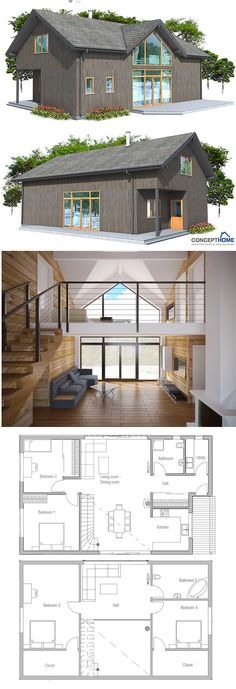 Small House Plan:  Second floor: Divide the bedroom into 2.  First floor: move bathroom between the two bedroom, further place utility thus extending living area