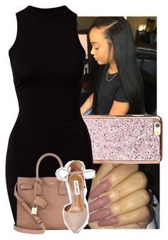 """""""30 minutes & I'm on ya body"""" by trillest-k ❤ liked on Polyvore featuring River Island, Yves Saint Laurent and Steve Madden"""