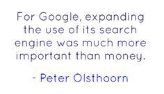 Peter olsthoorn in 'The price we pay for Google'