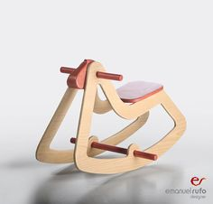 Wooden Rocking Horse Modern Wooden Toy for door emanuelrufoToys