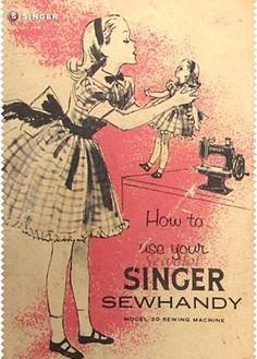 Pequeñas creadoras Singer #vintage #Singer #costura