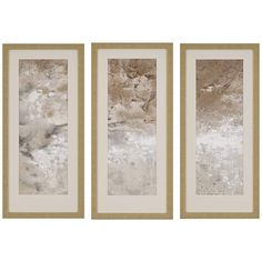 Great for Earthen II' by Jardine - 3 Piece Picture Frame Painting Print Set on Paper Wall Art Decor from top store Paper Wall Art, Metal Wall Art, Framed Wall Art, Wall Art Decor, Framed Prints, Painting Frames, Painting Prints, Classic Picture Frames, Contemporary Frames
