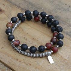 Men's Jewelry - #Yoga Inspired Chakra #Jewelry Collection Chakra Jewelry, Chakra Bracelet, Yoga Bracelet, Men's Jewelry, Jewelry Making, Jewellery, Diy Leather Bracelet, Sacral Chakra, Bracelets For Men