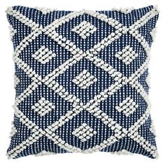 Navy Outdoor Pillow - Adelyn | At Home