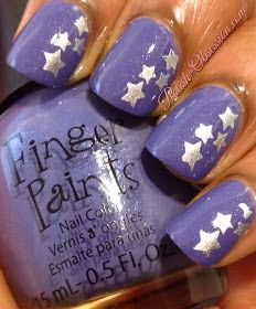Polish Obsession: Stamping W-22 plate from @BornPrettyStore #stars #nailart