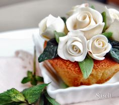 cupcake decorato con gumpaste