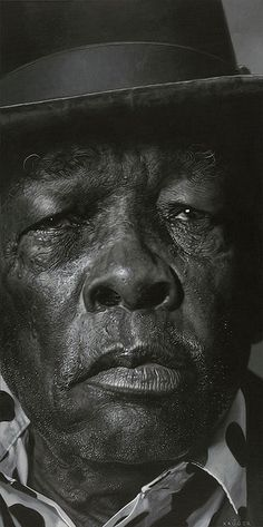 John Lee Hooker    yes, a PAINTING by art genius Sebastian Kruger