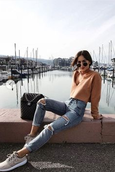 Ideas For Fashion Photography Ideas Modeling Poses Clothes Mode Outfits, Trendy Outfits, Summer Outfits, Summertime Outfits, Trendy Jeans, Autumn Outfits For Teen Girls, Cute Casual Outfits For Teens, Casual Sunday Outfit, Casual Travel Outfit