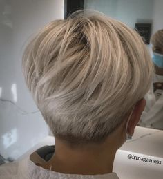 My Hairstyle, Hairstyles, Fresh Hair, Salvia, Pixie Cut, Hair Designs, Blonde Hair, Your Hair, Short Hair Styles