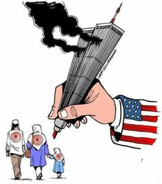 Poignant #politicalcartoon  #terrorismhasnoreligion #droneattacks