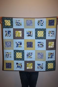 Oh Fransson - Simple Baby Quilt by Amelia H, via Flickr