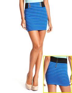 Elastic-Side Sailor Skirt