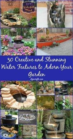 30 Creative and Stunning Water Features to Adorn Your Garden...
