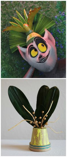 Madagascar and King Julien-inspired craft Madagascar Movie, Diy Party Hats, Movie Crafts, Rainy Day Activities, Crafts For Boys, Printable Crafts, New Years Party, Diy Gifts, Jr