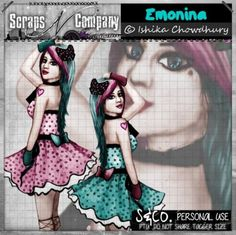"Tube ""EMO NINA"" by Ishika Chowdhury http://scrapsncompany.com/index.php?main_page=product_info&cPath=161&products_id=14141"