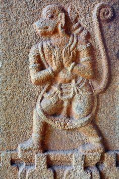 India - Karnataka - Hampi - Vitthala Temple - Hanuman - 26   by asienman