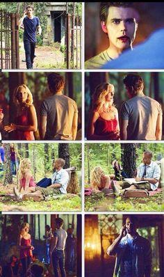 #TVD The Vampire Diaries Damon,Stefan(memory lost),Caroline & I forgot his name