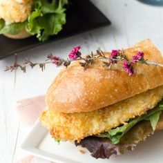a good use for those buns i keep buying until i'm done with bread [Baked tilapia sandwich with garlic mayonnaise.]