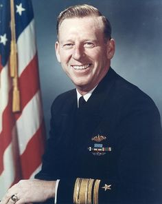 """Rear Admiral Eugene Bennett Fluckey (1913 –  2007), nicknamed """"Lucky Fluckey"""",was a US Navy submarine commander who received the Medal of Honor and four Navy Crosses for his service during WW2. In command of USS Barb (SS-220) Fluckey established himself as one of the greatest submarine skippers, credited with the most tonnage sunk by a U.S. skipper during WW2: 17 ships including a carrier, cruiser, and frigate."""