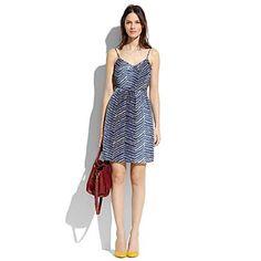 Silk Waveform Cami Dress