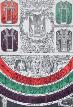 "in-timore-dei: "" Vestment colours "" Catholic Mass, Roman Catholic, Catholic Religion, Christian Symbols, Christian Faith, The Good Shepherd, Cure, Religious Education, Blessed Mother"
