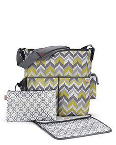 Skip Hop Jonathan Adler Duo Diaper Bags, Flame Yellow (Discontinued by Manufacturer) Cute Diaper Bags, Best Diaper Bag, Cool Mom Picks, Baby Center, Jonathan Adler, Baby Gear, Baby Love, Baby Items, Baby Kids