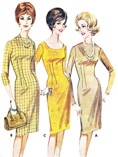 1960s Dress Pattern Butterick 2535 Day or Evening by paneenjerez, $18.00