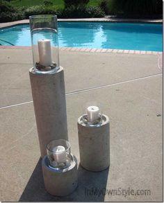 Concrete-Fire-Candle-Column