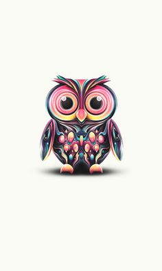 Multi-colored owl