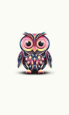 Multi-colored owl
