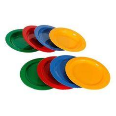 Los platos de plástico los podemos usar como base para hacer una maqueta de algo como una playa, un prado, el mar, etc. Se emplearán otros materiales como la plastilina o arcilla.