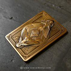 Anubis Antique Gold Metal Card