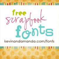Cute free fonts for classroom, scrapbooks, etc.