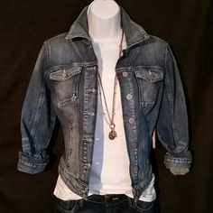 Selling this Brittney Denim Jacket in Light Oldies Wash in my Poshmark closet! My username is: dreamcatcher088. #shopmycloset #poshmark #fashion #shopping #style #forsale #Guess #Jackets & Blazers