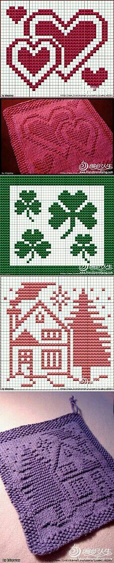 Knitting, crochet etc. Knitting Charts, Knitting Stitches, Knitting Patterns, Cloth Patterns, Knitting Basics, Knitting Needles, Crochet Home, Knit Or Crochet, Crochet Hearts