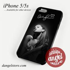 Ariana Grande With Signature Phone case for iPhone 4/4s/5/5c/5s/6/6 plus