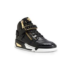 Utter attitude - #Versace leather zipped sneakers. Discover more unique high-top #VersaceSneakers on versace.com