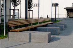 Beton, Holz, Sitzen