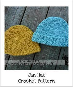 Danyel Pink Designs: CROCHET PATTERN - Jan Hat