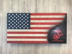 American Flag with Army, Navy, Marine or Airforce logo American Flag Drawing, Kaizen Foam, Wood Projects, Projects To Try, Branch Of Service, Wooden Flag, Diy Woodworking, Red White Blue, Navy Marine