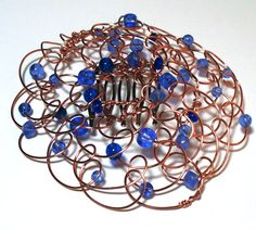 A Wire beaded #kippah or Jewish Woman's headcovering @lindab142 #jewish #judaica