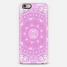 New! Pink Petal Doily looks pretty on this phone case.  Check out this design on Casetify!